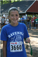 Girl in blue with runner number